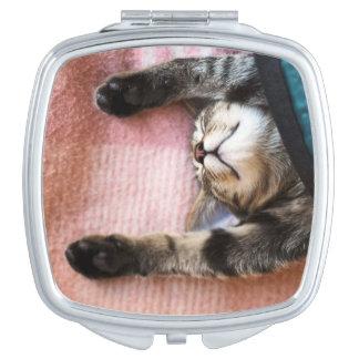 Miroir De Maquillage Chaton de sommeiller