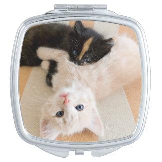 Miroir De Maquillage Chatons blancs et noirs