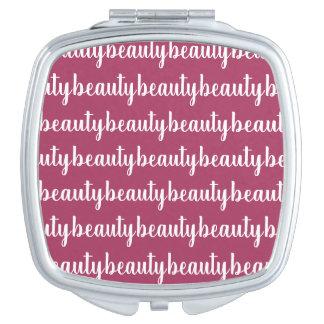 Miroir De Maquillage Couleur rose foncée