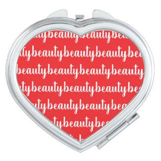 Miroir De Maquillage Couleur rouge