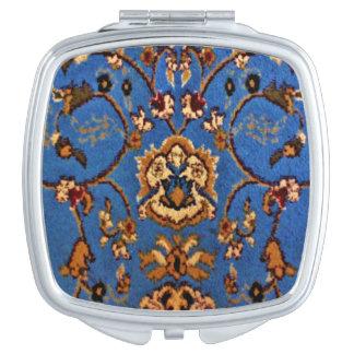 Miroir De Maquillage Couverture orientale bleue