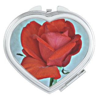 Miroir De Maquillage Miroir de contrat de rose rouge
