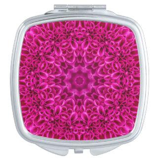 Miroir De Maquillage Miroirs vintages de contrat de motif de fleur rose
