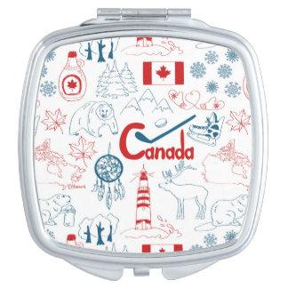 Miroir De Maquillage Motif de symboles du Canada |