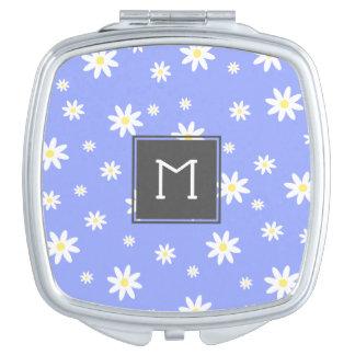 Miroir De Maquillage Motif en pastel mignon et girly de marguerite