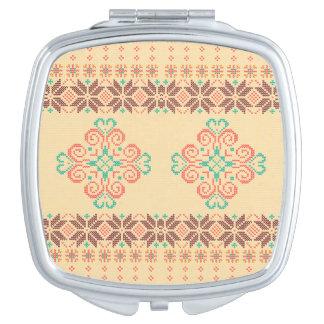Miroir De Maquillage Motif tricoté par Noël