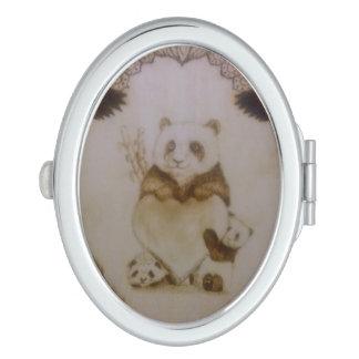 Miroir De Maquillage Pandas affectueux