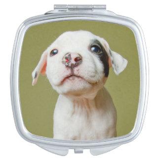 Miroir De Maquillage Pitbull avec l'oeil repéré par noir