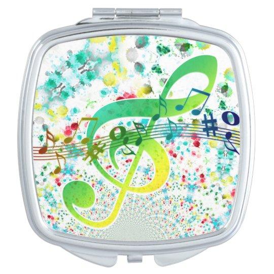 Miroir De Maquillage Portée musicale