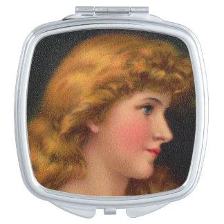 Miroir De Poche belle femme du 19ème siècle