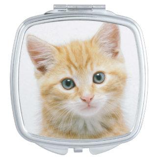 Miroir De Poche Chat tigré d'orange douce