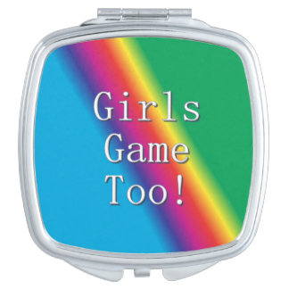 Miroir De Poche De filles de jeu contrat de miroir d'arc-en-ciel