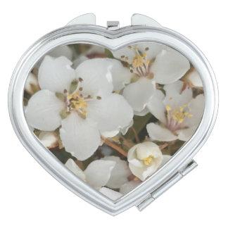 Miroir De Poche Fleurs blanches