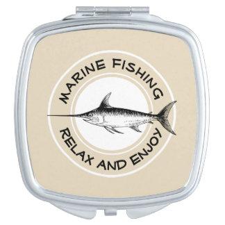 Miroir De Poche La pêche marine détendent et apprécient