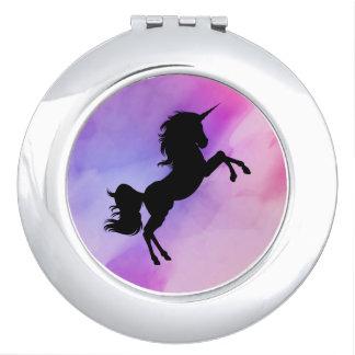 Miroir De Poche Miroir de Colorfull de conception de licorne