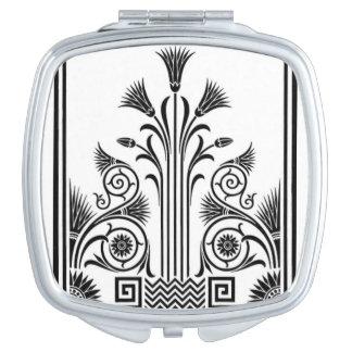 Miroir De Poche Miroir noir et blanc de contrat d'art déco