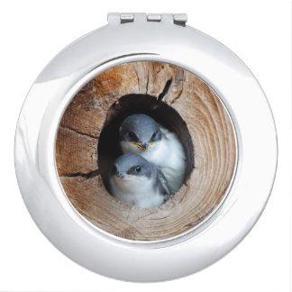 Miroir De Poche Oiseaux de bébé