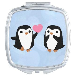 Miroir De Poche Pingouins dans l'amour