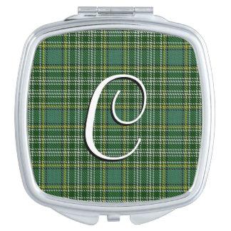 Miroir De Poche Plaid de tartan écossais de Currie de clan de