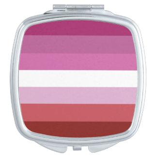 Miroir De Poche Rayures de la conception   de drapeau de fierté de