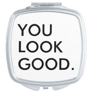 Miroir De Poche Vous semblez le bon humour drôle de hippie disant