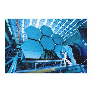 Miroir de télescope spatial de James Webb Toile Tendue Sur Châssis