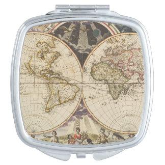 Miroir De Voyage 1702 une nouvelle carte du monde