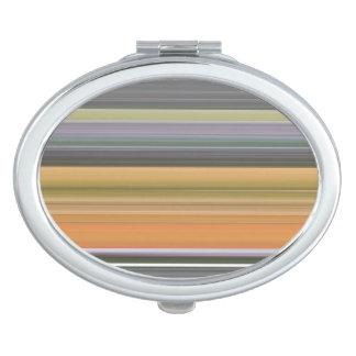 Miroir De Voyage #1 abstrait : Jaune et gris