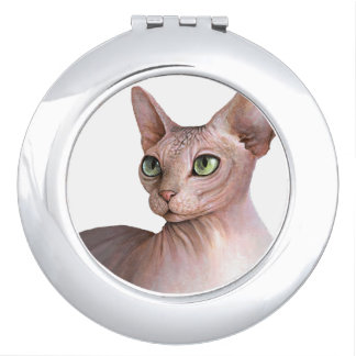 Miroir De Voyage Cat 578 Sphynx white background