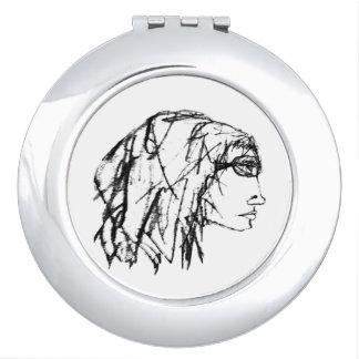 Miroir De Voyage Dessin frais de portrait de femme