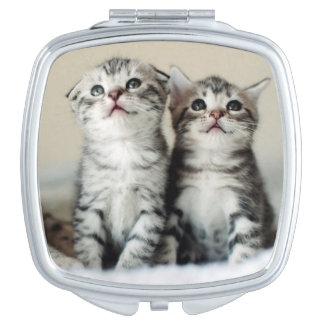 Miroir De Voyage Deux chatons mignons