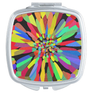 Miroir De Voyage Fleur de confettis