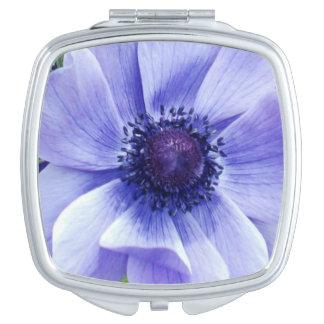 Miroir De Voyage Fleur de pavot bleu,