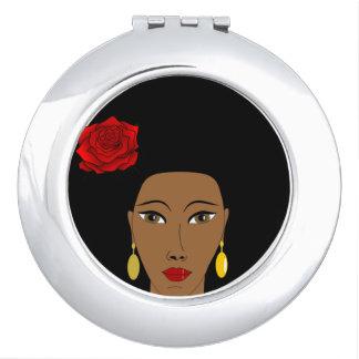 Miroir De Voyage Miroir de contrat de beauté d'Afro
