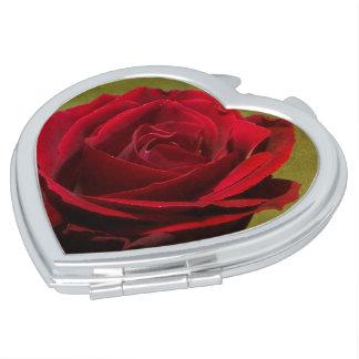 Miroir De Voyage Miroir texturisé de contrat de rose rouge