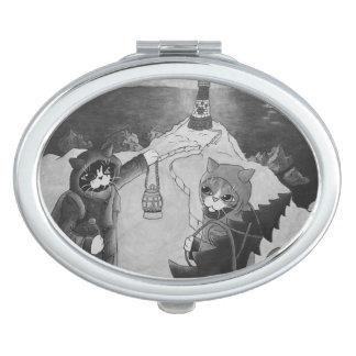 Miroir De Voyage Phare de Noël aux chats de nuit