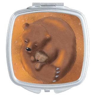 Miroir d'ours miroir compact
