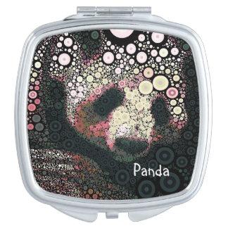 Miroir floral de cercles concentriques de panda miroir compact