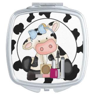 Miroir Girly de maquillage de vache à bande Miroirs Compacts
