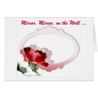 Miroir, miroir sur le mur carte de vœux