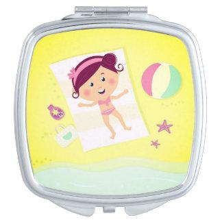 Miroir original d'enfants avec le thème d'été miroirs de voyage