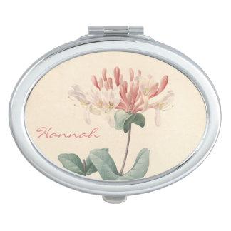 Miroir personnalisé par chèvrefeuille botanique vi miroirs de poche