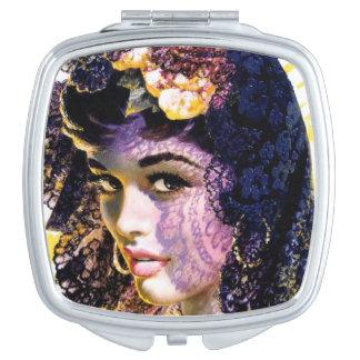 Miroir vintage de Nouveau d'art Miroirs De Maquillage
