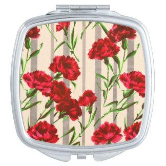 Miroirs À Maquillage copie rouge de fleurs