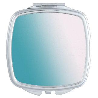 Miroirs À Maquillage Gradient turquoise et blanc
