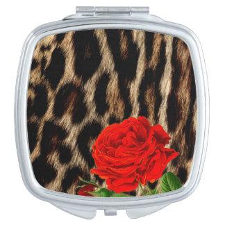 Miroirs À Maquillage GUÉPARD et ROSE ROUGE