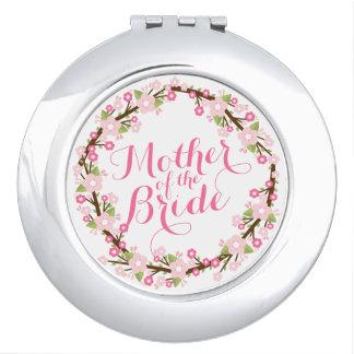 Miroirs À Maquillage Mère du miroir floral de contrat de mariage de
