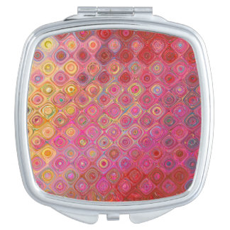 Miroirs À Maquillage Miroir artistique de motif de Colorfull rétro