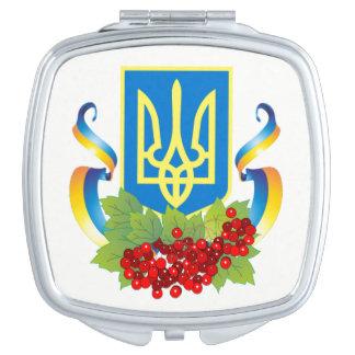 Miroirs À Maquillage Miroir de Kalyna de ruban de Tryzub d'Ukrainien