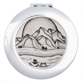 Miroirs À Maquillage Miroir de montagne